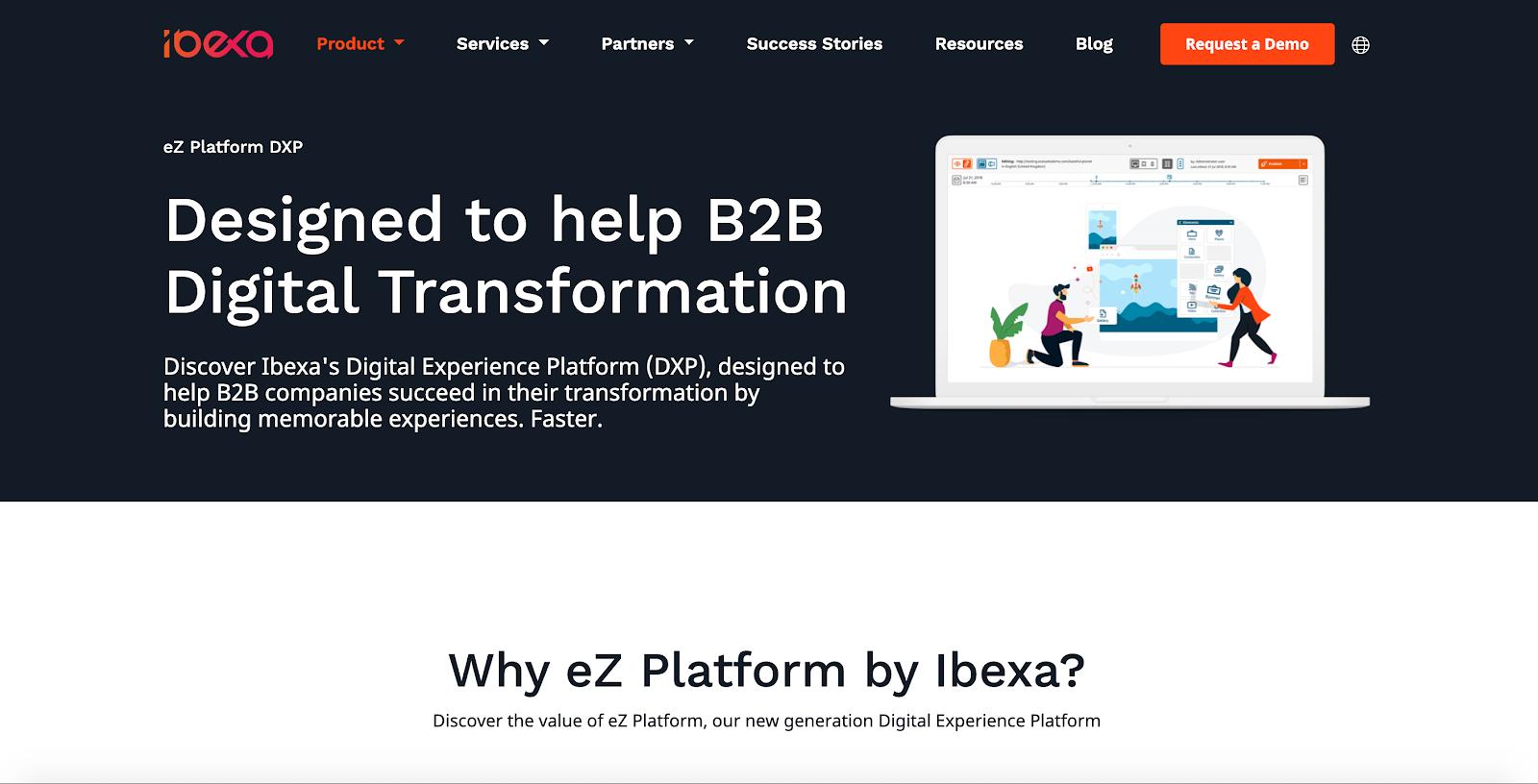 eZ Platform includes a native page builder, is designed on full-stack PHP, and built for enterprises.