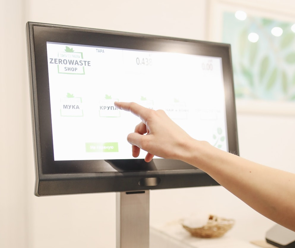 touchscreen display for retail example