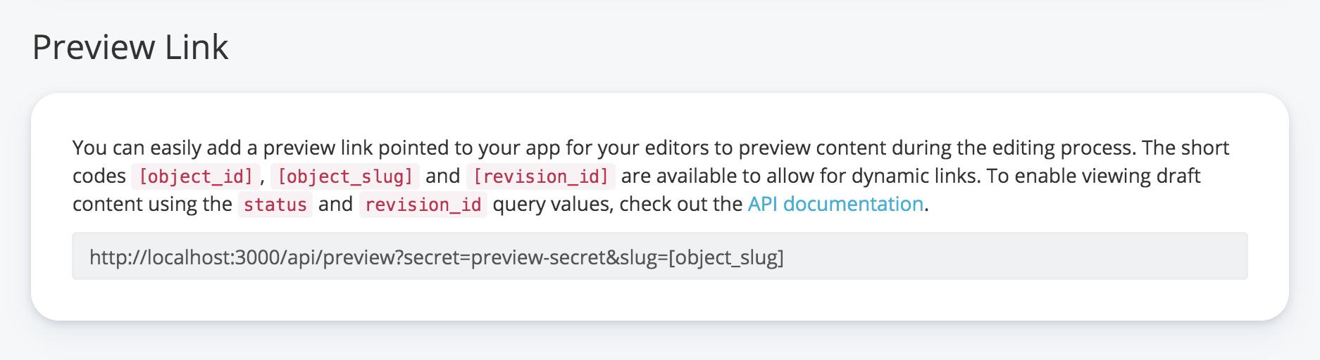 Preview Link Screenshot