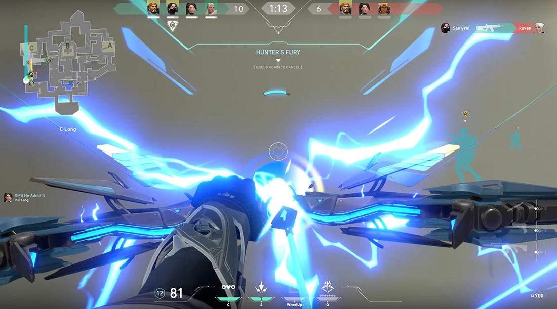 Valorant Sage Ultimate Ability Hunter's Fury