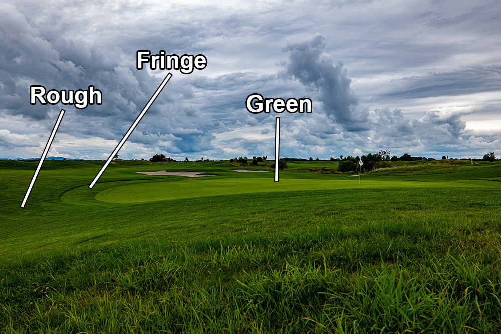 Golf Course Green, Fringe, and Rough