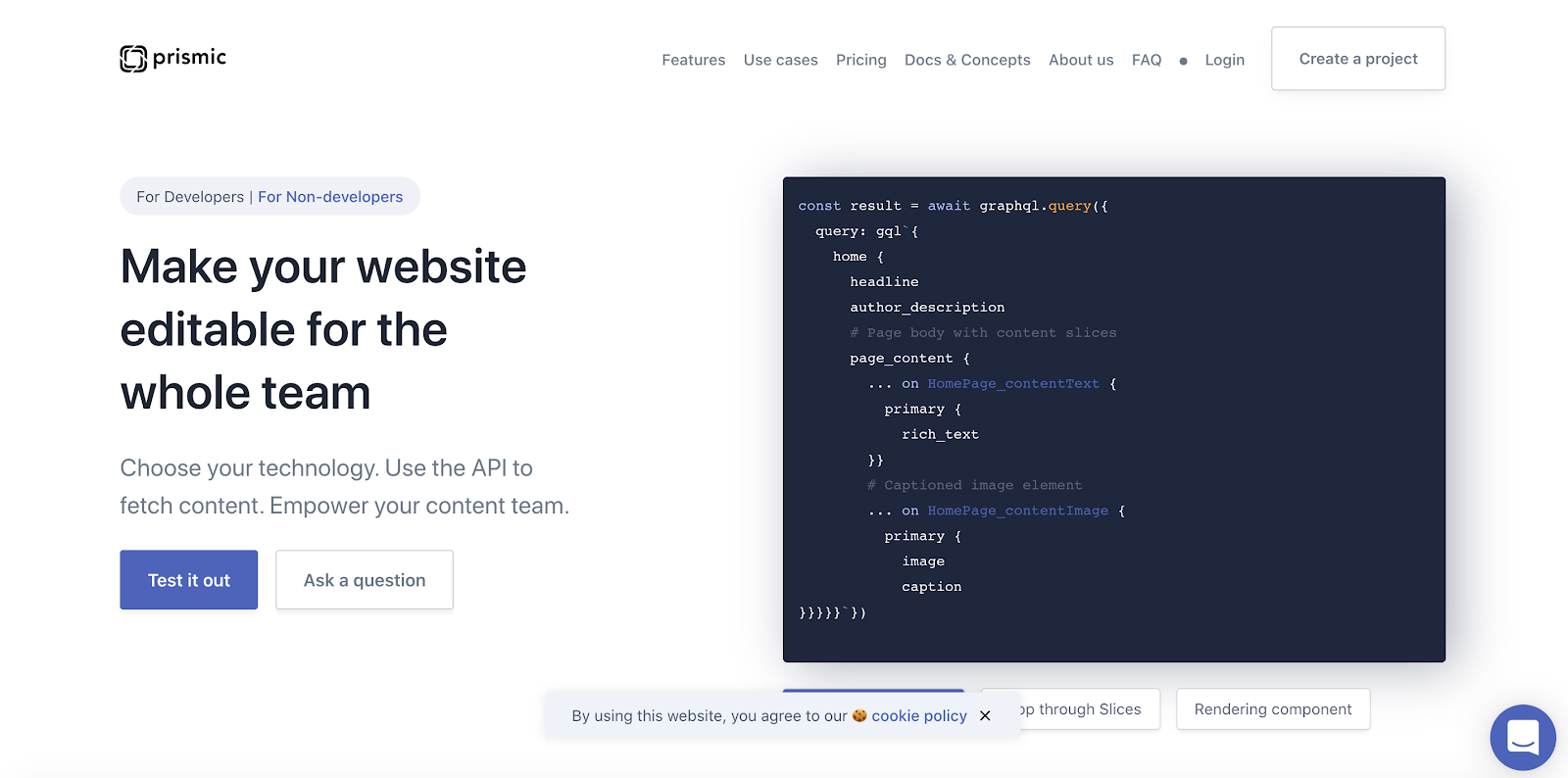 Prismic is a developer-first, San Francisco-based API platform that's gaining popularity in the US and offers free models