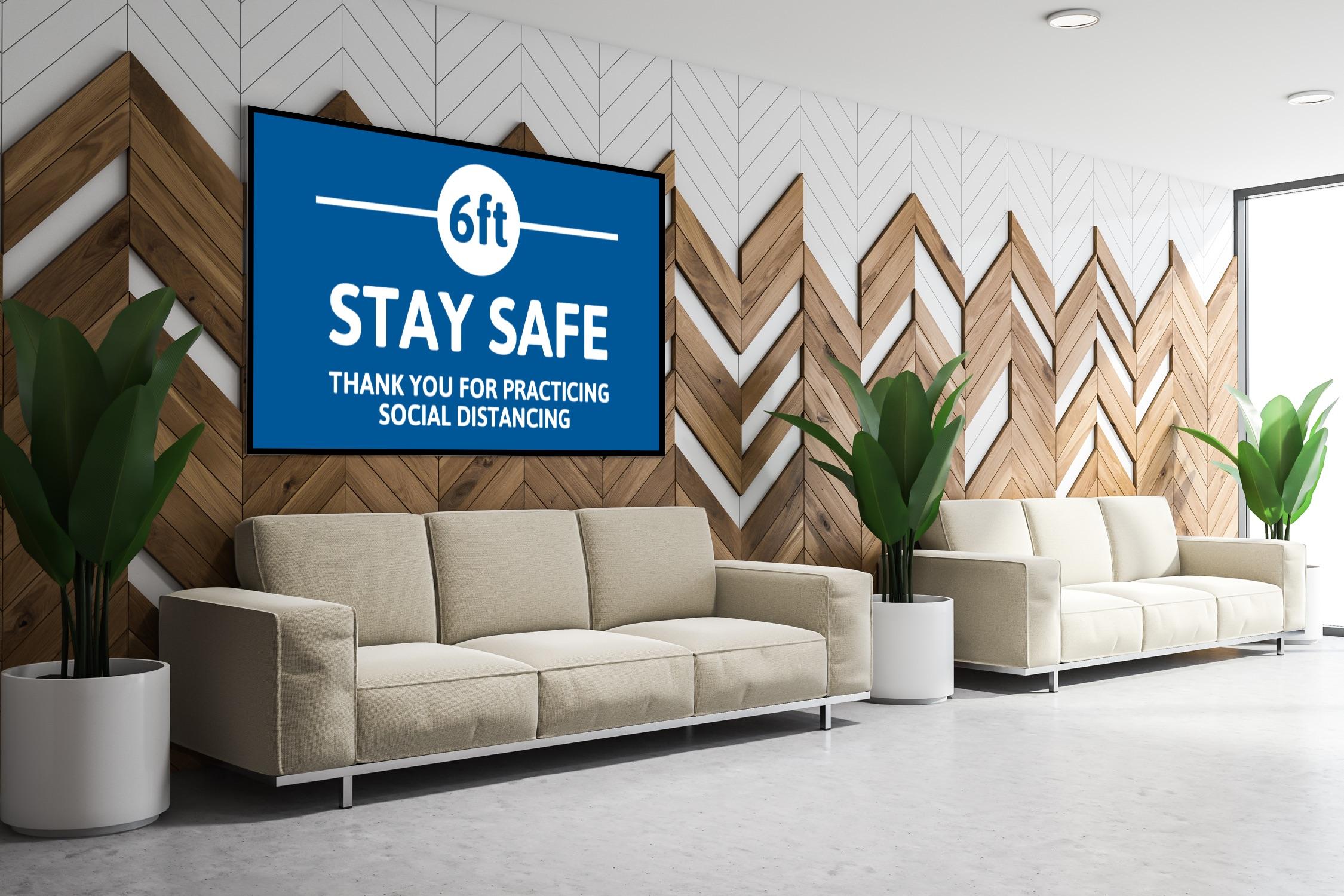 digital lobby signage