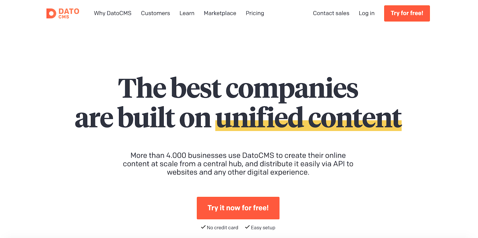 "DatoCMS is a headless CMS built on a ""unified content"" philosophy"