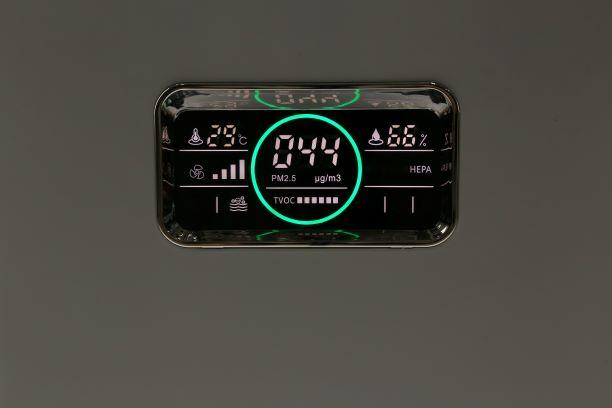 Purificateur d'air AIR ET SANTE A&S 800 Professionnel panneau de commande