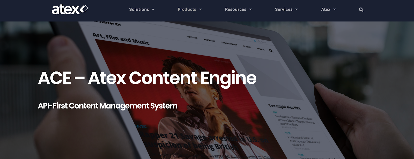 ACE stands for the Atex Content Engine and is fully scalable for developers and content teams