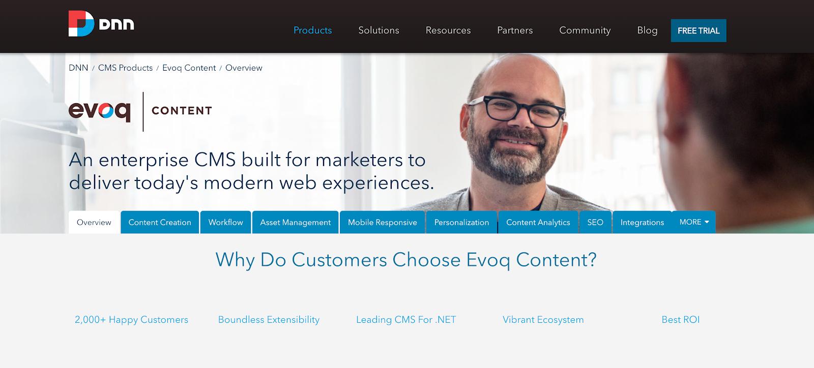 Evoq Content is an enterprise software platform focused on .NET applications