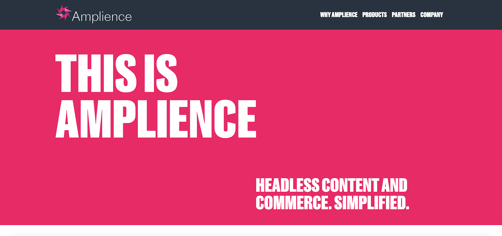 Amplience is a headless content manager created specifically for retail