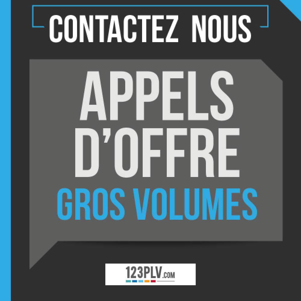Appel d'offre & gros volumes : contactez-nous