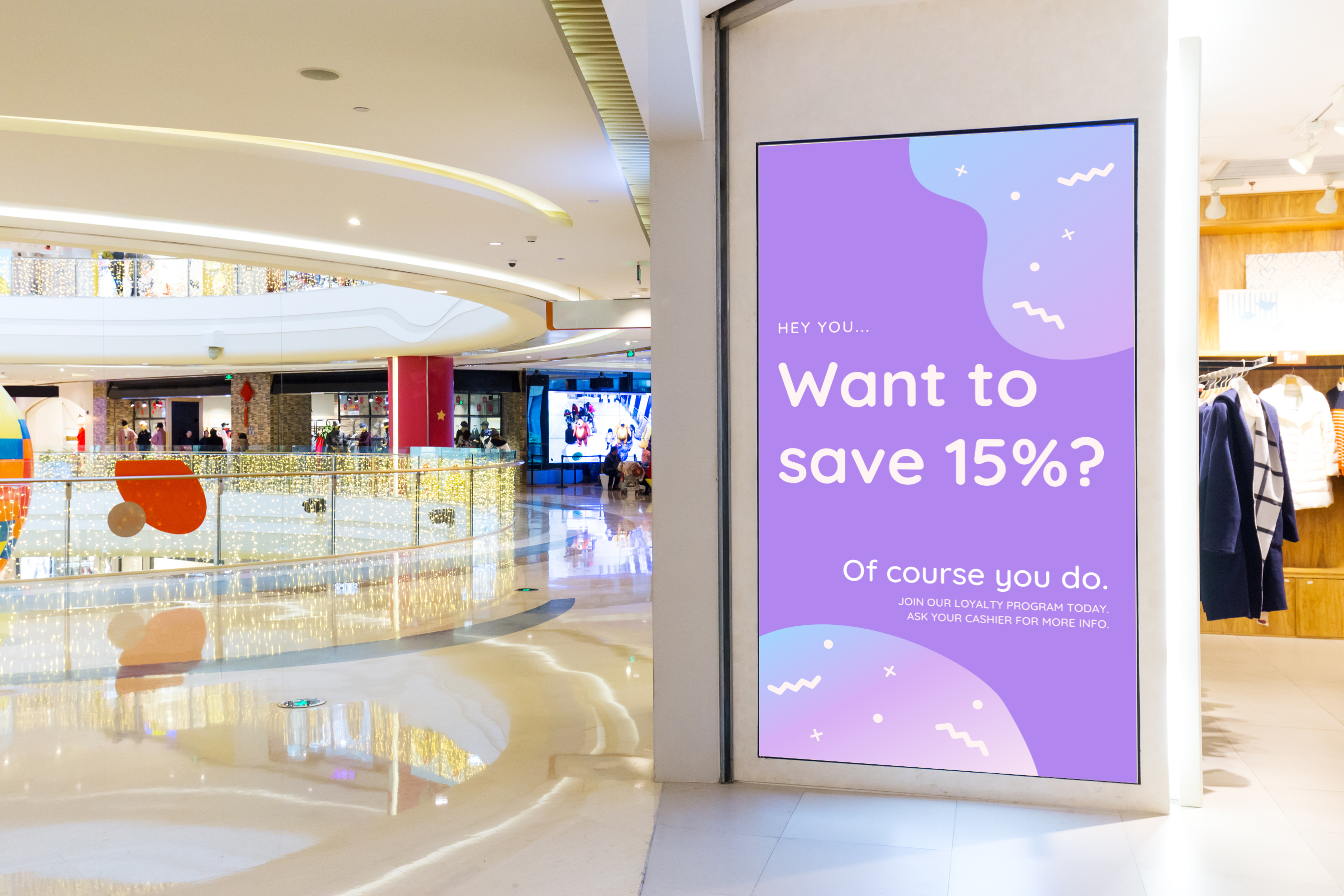digital signage advertising example retail
