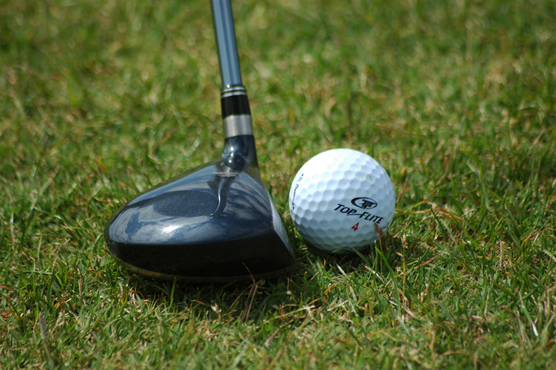 Golf Fairway Wood Next to Ball