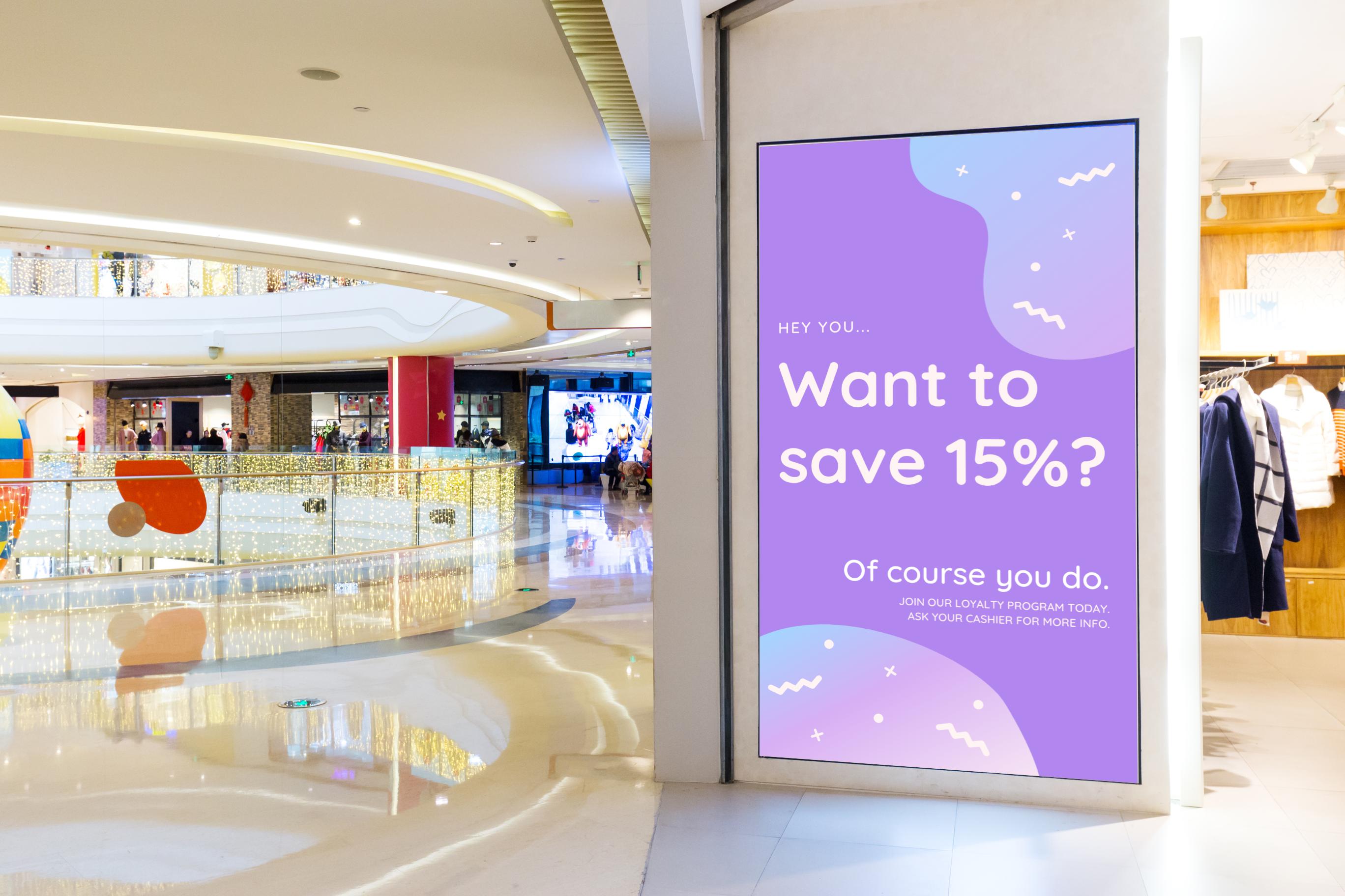 commercial digital signage display