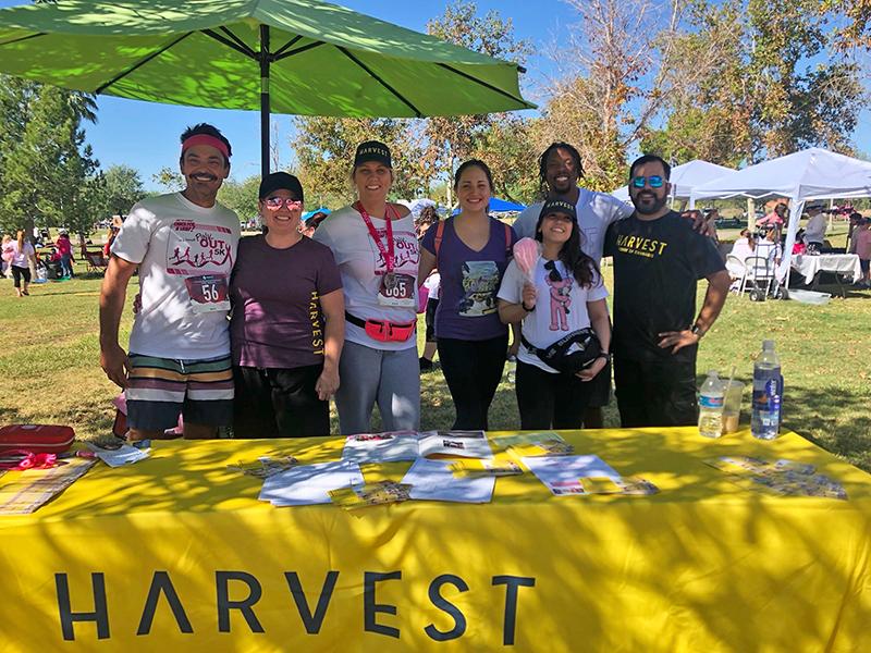 Harvest volunteers supporting marathon runners