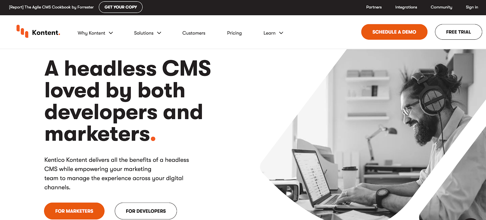 Kentico Kontent has crept to the front of the pack of Englands' CMS companies since its launch, and caters to marketers and developers