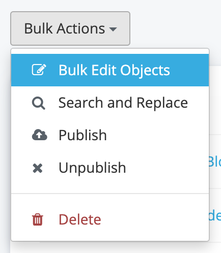 Bulk Edit Dropdown
