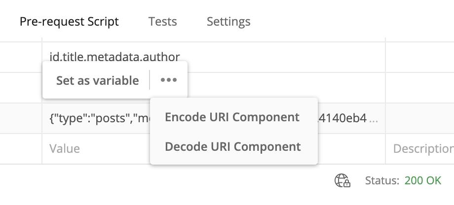 Encode Query Screenshot 2