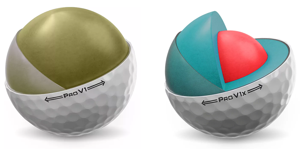 Titleist Pro V1 and Pro V1x Cores and Dimples
