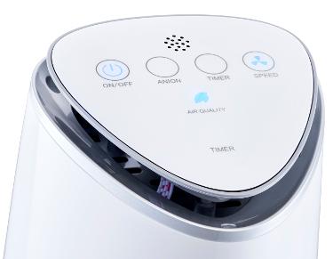 Air purifier AIR ET SANTE A&S 50 Compact control panel