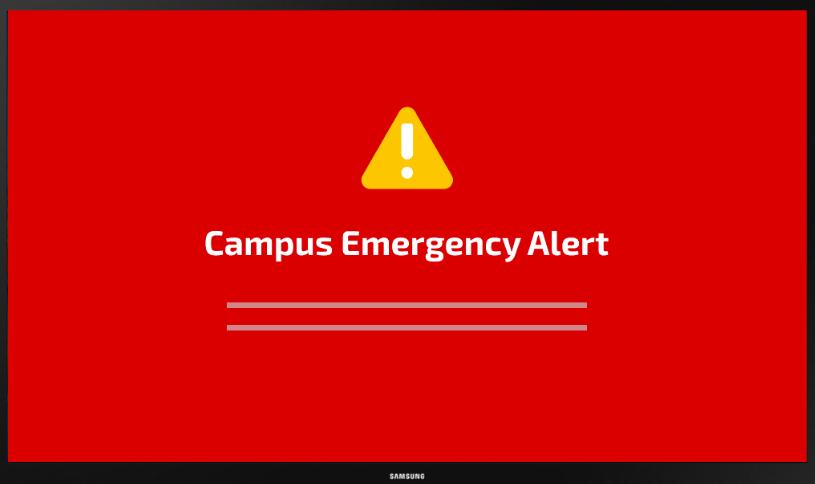 digital signage alert example