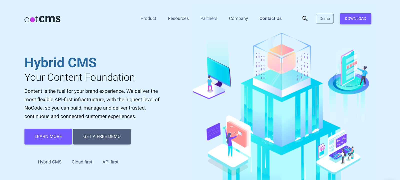 """Dot calls itself a """"hybrid"""" CMS, combining the best of Headless and a traditional CMS, making it great for teams that are hoping to build and manage without too much technical development"""