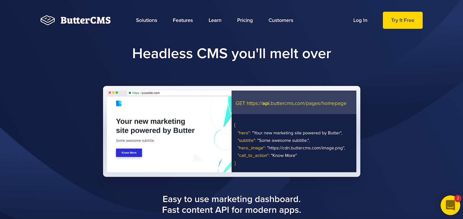Butter CMS is famed for its blogging features, but it's a CMS with features that cater to the whole tech stack