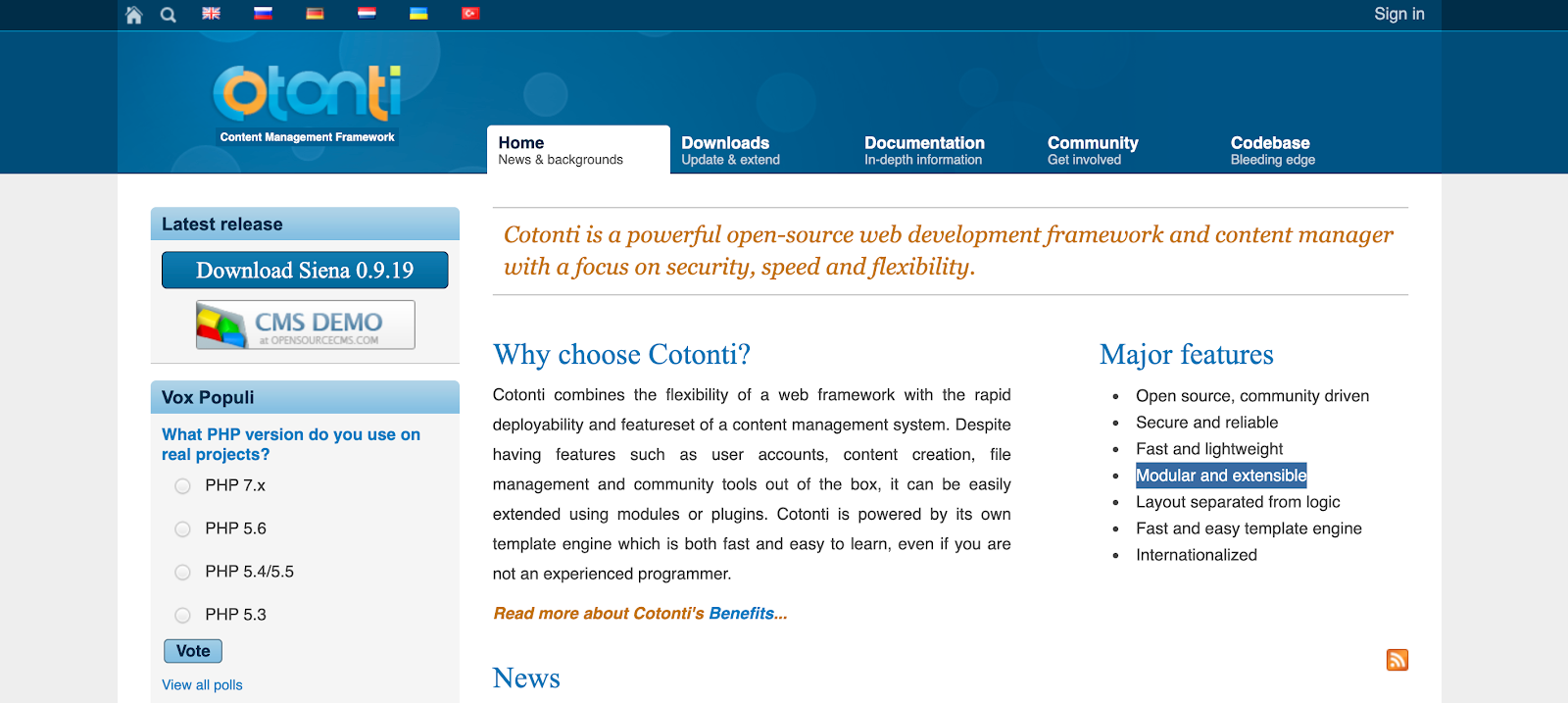 If you're looking for a flexible and free-to-use CMS, check out Contonti