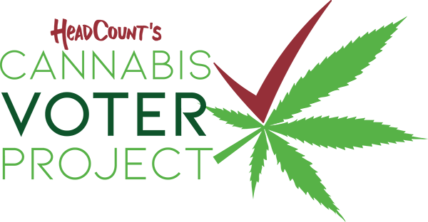 HeadCount's Cannabis Voter Project logo